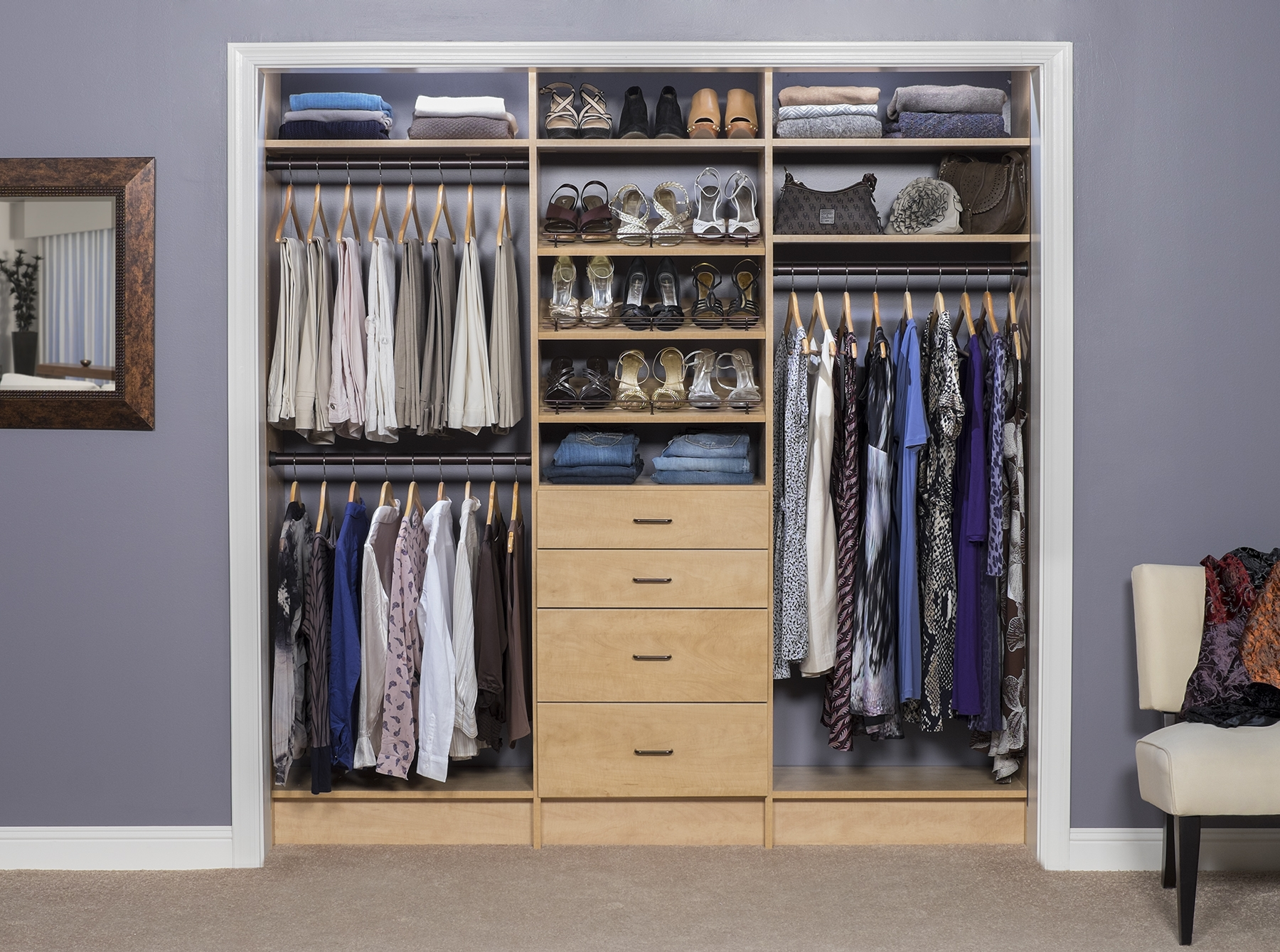 Custom closets closet systems design fort myers naples for Designing a closet system